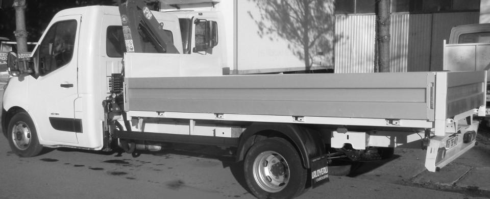 Aluminiowa zabudowa samochodu dostawczego